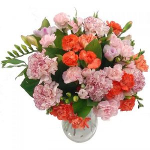 Freesia and Carnation