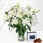 Double-Flowering Lilies - White Lilies Bouquet - Flower Delivery - Next Day Flower Delivery