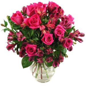 Cerise Rosmeria Bouquet