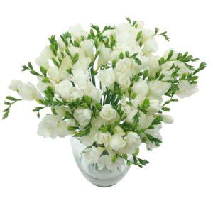 White Whispers Freesia Bouquet